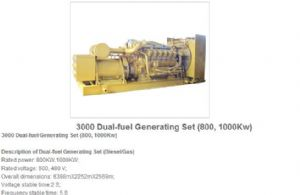 3000 dual-fuel generating sets 800,1000kw